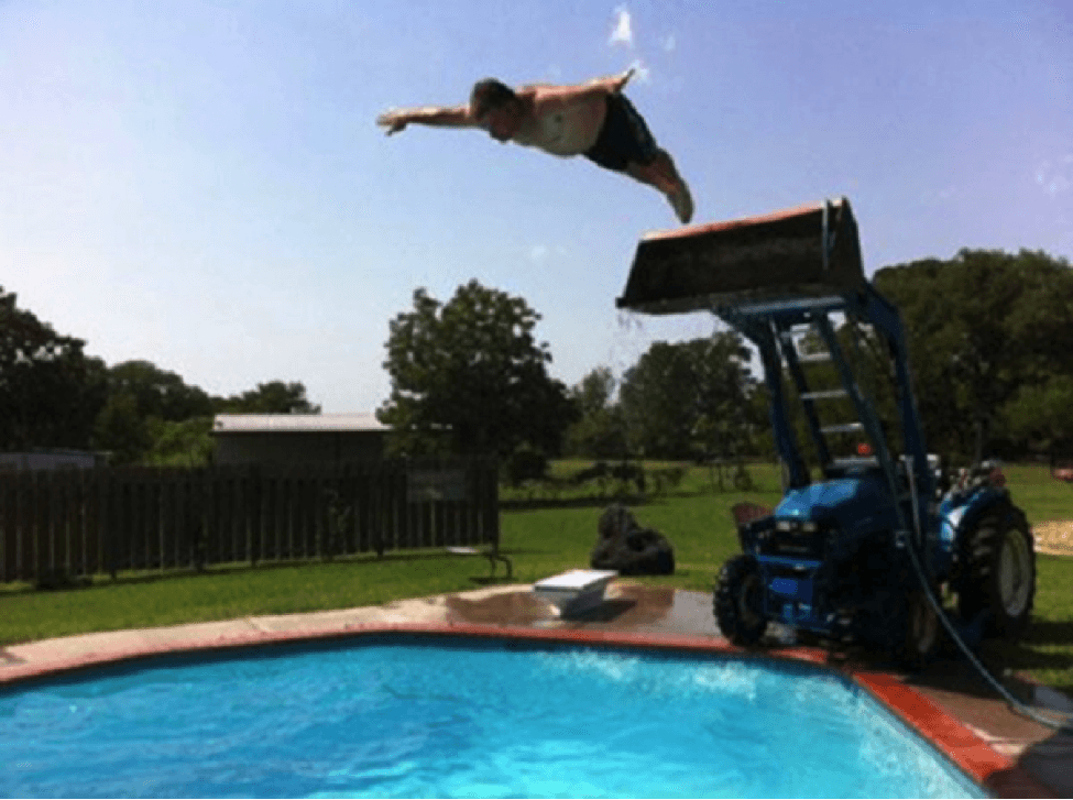 tractor pool jump