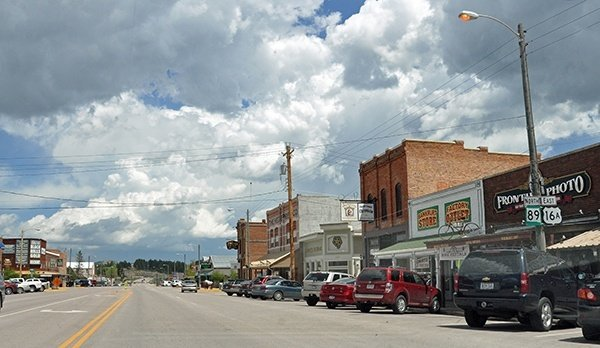 On the road in Custer, South Dakota