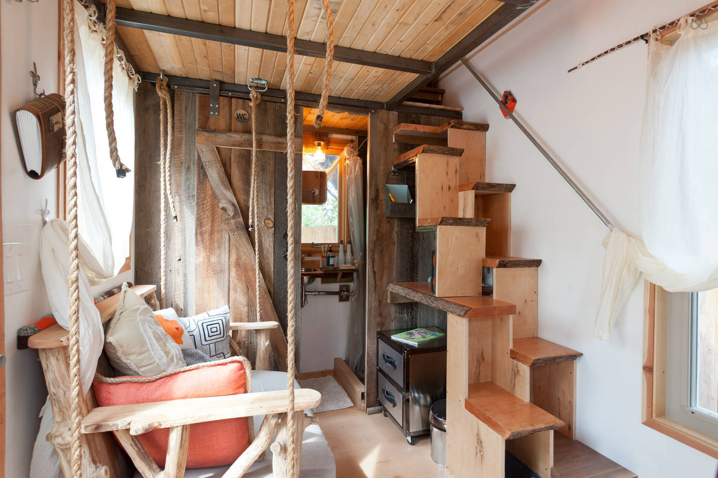 Images Via Tiny House Living · Hip East Side Tiny Pad Interior