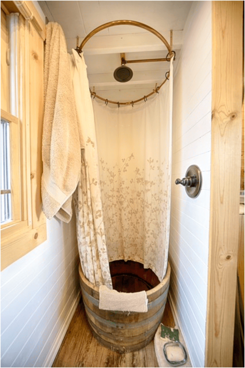 Image Via Tiny Tack House Tiny Tack House Bathroom