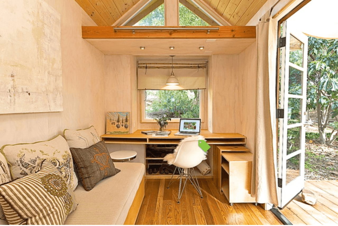 image via houzz vinas tiny house interior - Tumbleweed Tiny House Interior