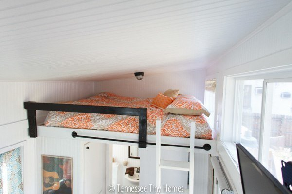 Tiny House With Loft april anson ladder to loft Music City Tiny House Loft Bed