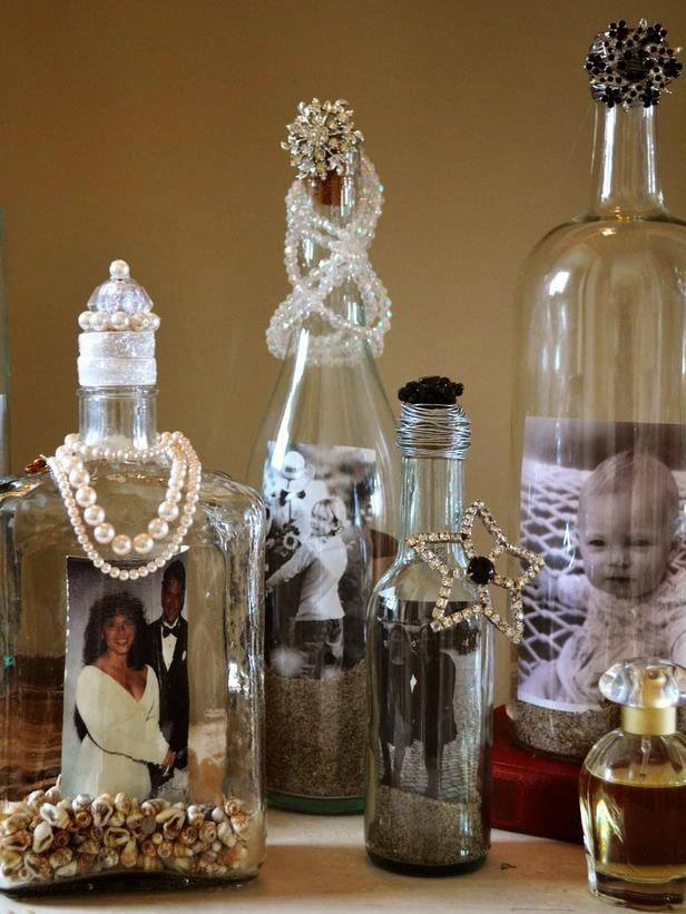 15 ingenious ways to reuse a liquor bottle for Empty bottle decoration ideas