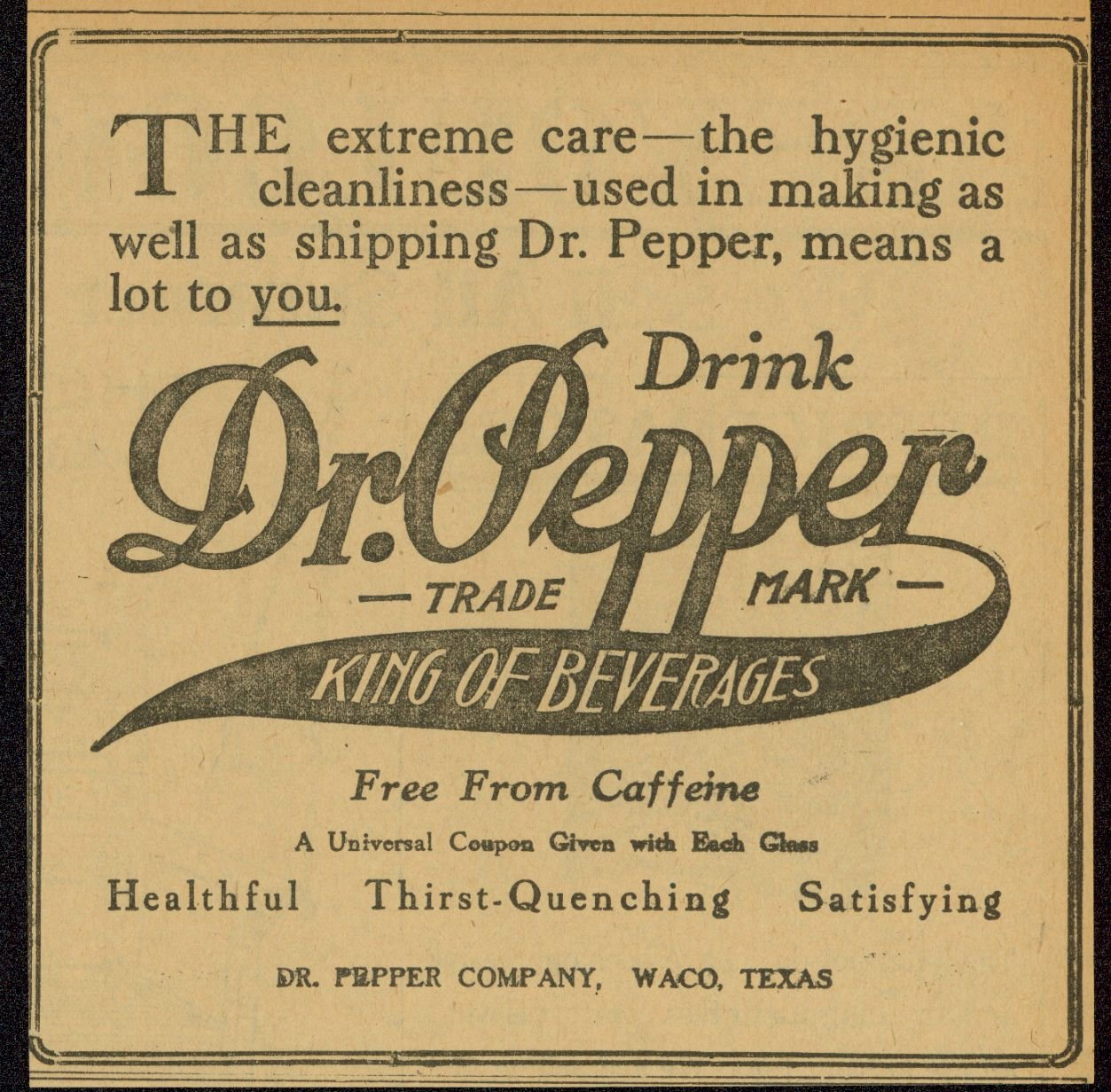 Image via Dr Pepper Museum