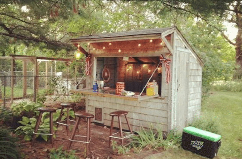 Sheds Made Into Man Caves : Forget man caves backyard bar sheds are the new trend