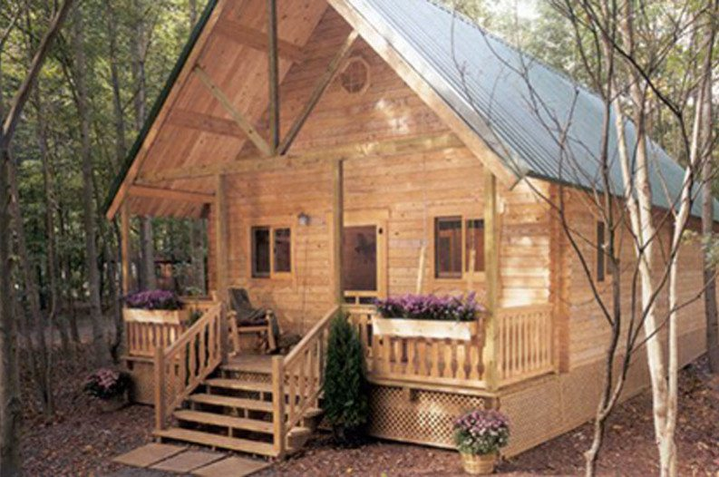 You can build this cozy a frame cabin for 6 050 for A frame building kits