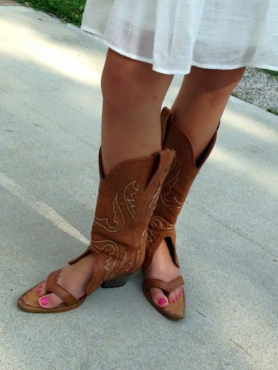 Facebook/Redneck Boot Sandals