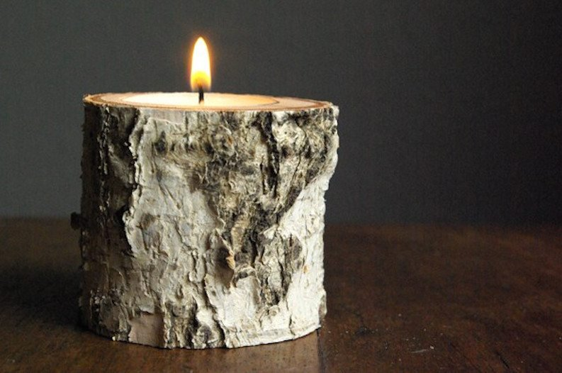 How To Make Beautifully Rustic Wood Candle Holders