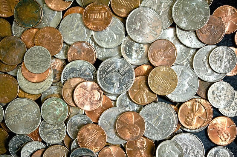 how to clean change coins