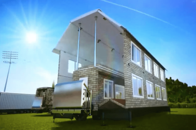 This Amazing Mobile Home Transforms Into A Fill Size House