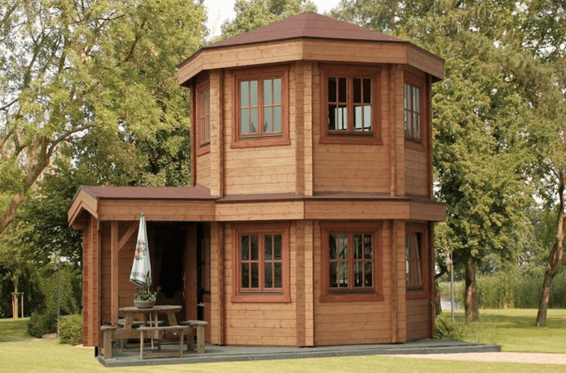 This Gorgeous Octagonal Log Cabin Only Costs 50 000