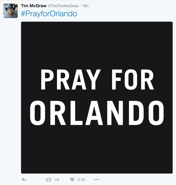 Tim McGraw Orlando Terror Attack