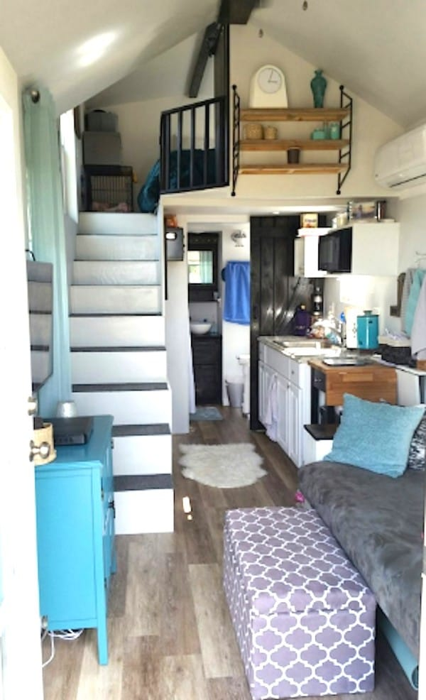 take a peek inside this adorable tennessee tiny house. Black Bedroom Furniture Sets. Home Design Ideas