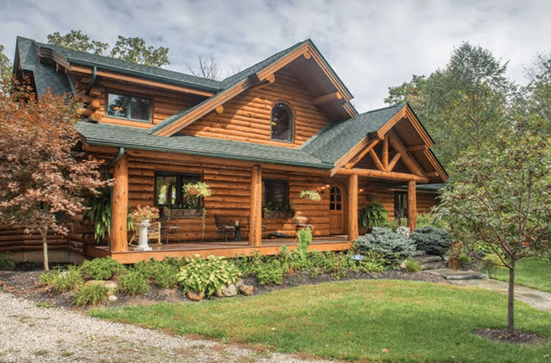 Take a look inside this palatial amish built log cabin for Wide open country cabins