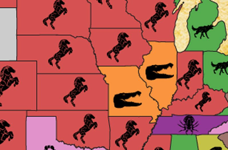 Map Shows the Animal Most Likely to Kill You in Each State