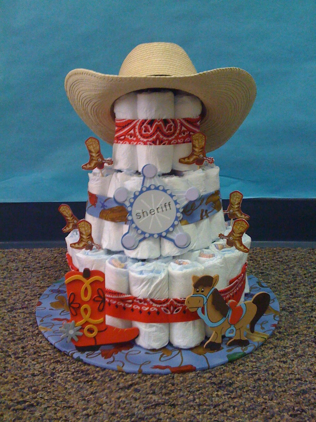 Cowboy Boot Baby Shower Cake