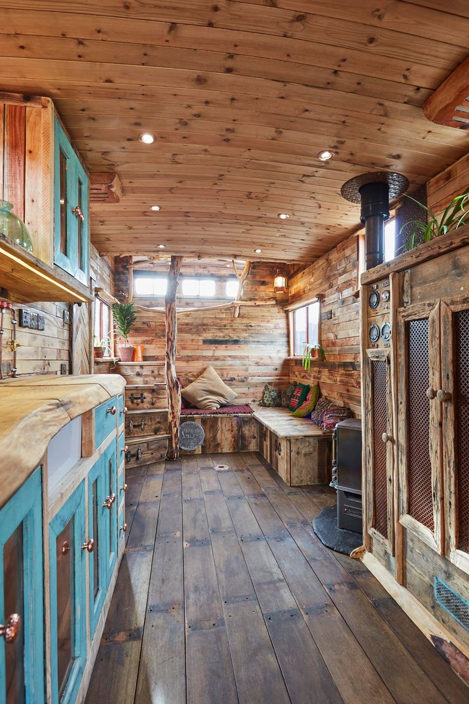 This Old Horse Trailer Was Converted Into A Cozy And Rustic Tiny House