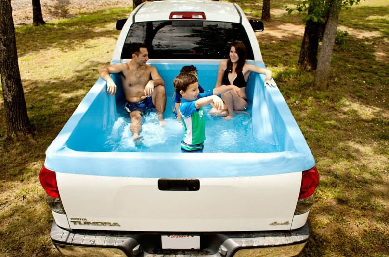 This Portable Truck Bed Swimming Pool Lets You Cool Off