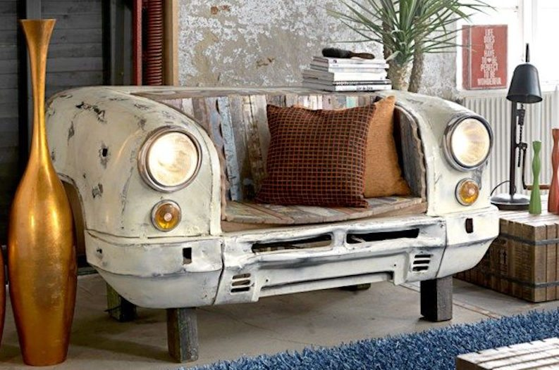 Home Decor Created from Old Car Parts Will Transform Your Living Space