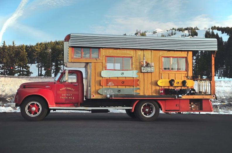 This Vintage Fire Truck Was Turned Into A Tiny Home On Wheels