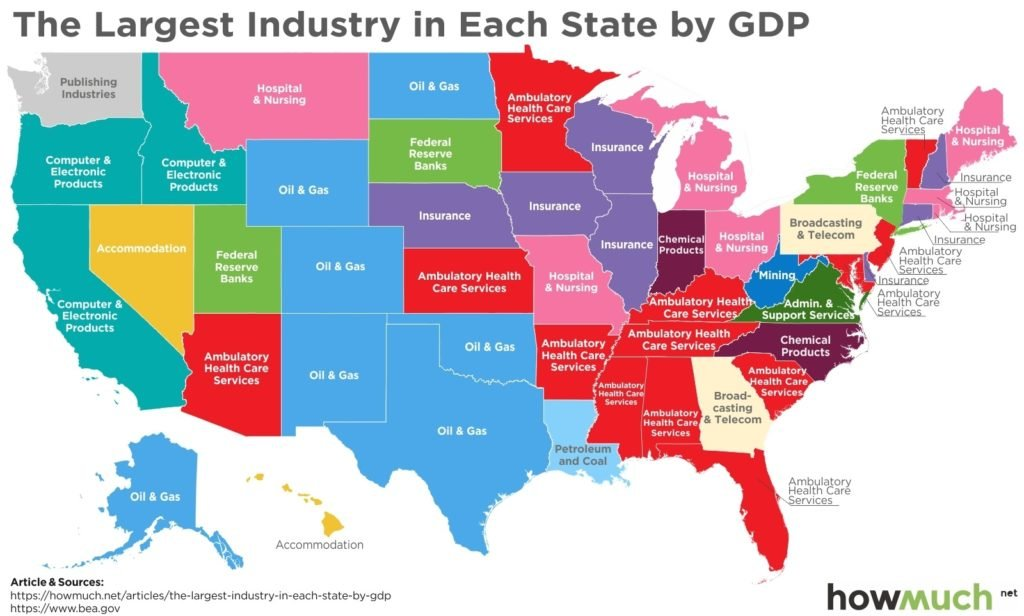 Map Shows What Every State in the US is Best At
