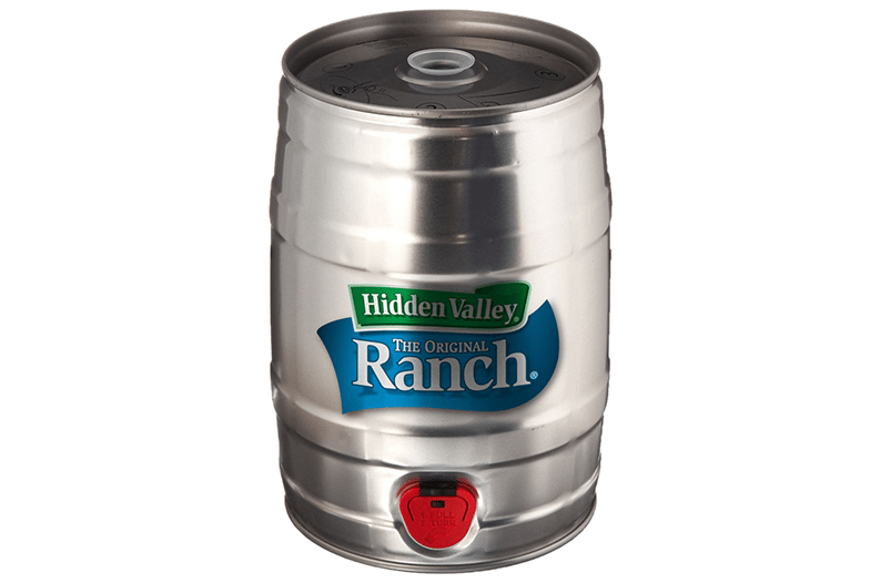 This keg holds a 'year supply' of ranch dressing