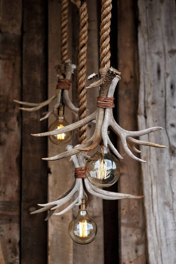 Antler light fixture