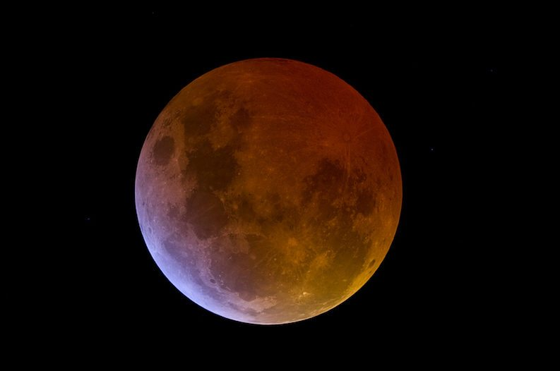 Arrangement for viewing Super Blue Blood Moon