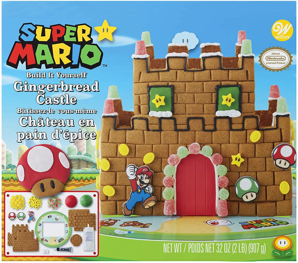 Wilton Build it Yourself Super Mario Gingerbread Castle Decorating Kit