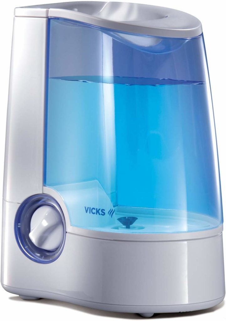 Vicks Warm Mist Humidifier, 1 Gallon, Auto Shut-Off, Filter-Free (V745)