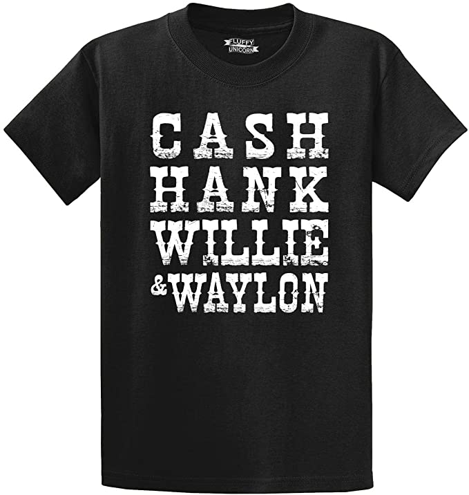 Comical Shirt Men's Cash Hank Willie Waylon T-Shirt