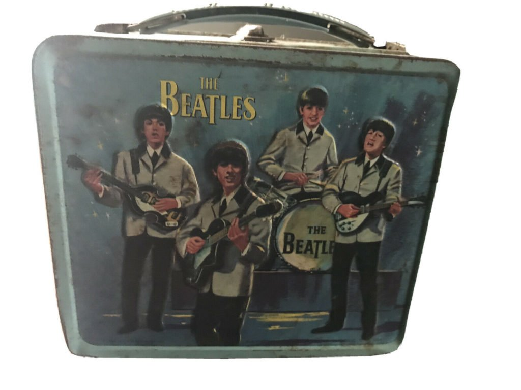 Vintage 1965 Beatles Aladdin metal lunch box