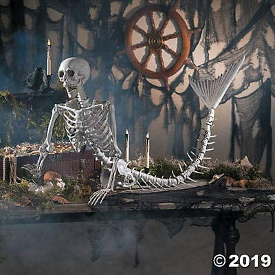 Life Size Mermaid Skeleton (over 6 feet long) Halloween Decorations