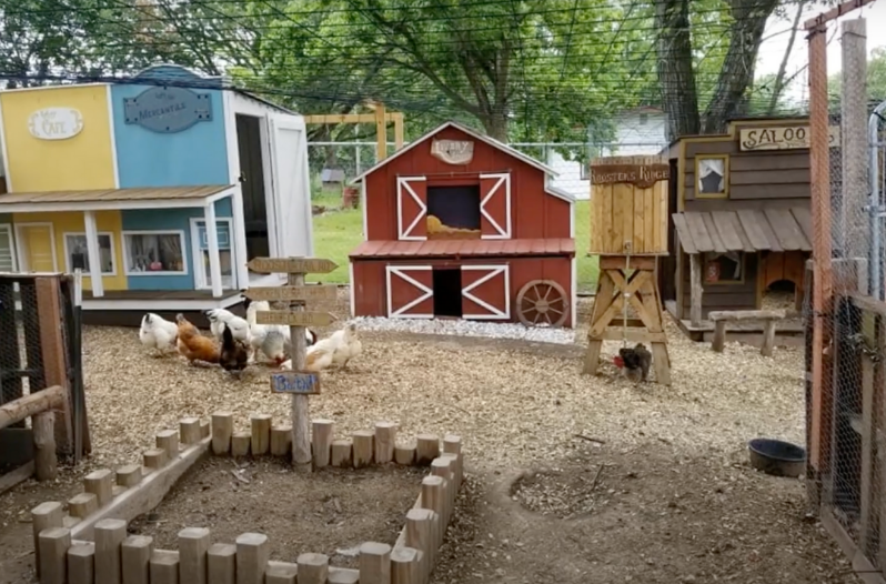 wild west chicken coop town